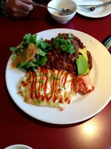 "Korean ""Huevos Rancheros"" S spicy and satisfying!"