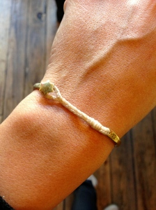 A bracelet I'm obsessed with from Scosha in Williamsburg